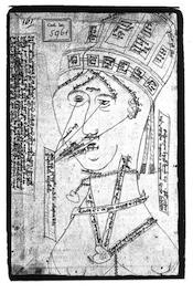 Drawing of human head